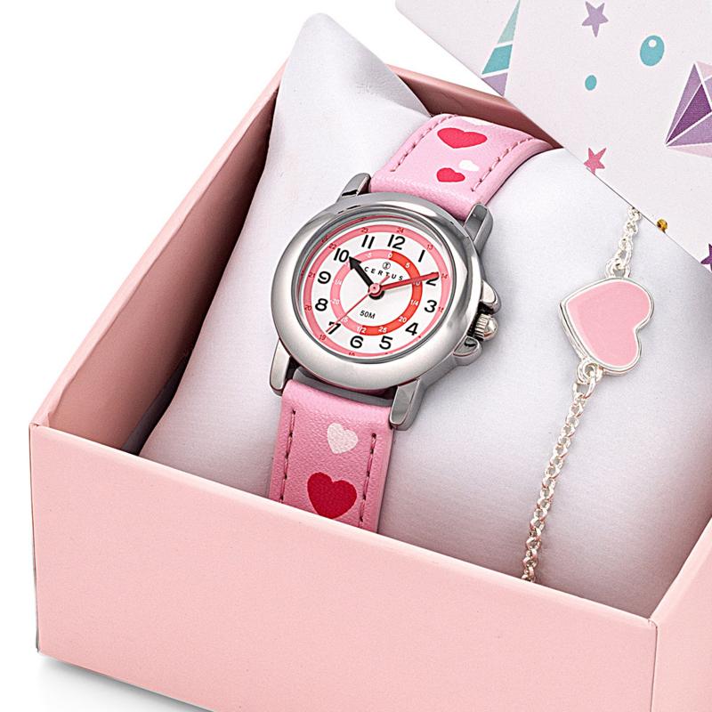 Certus Giftset Hearts - Horloge met Armband 26mm Roze