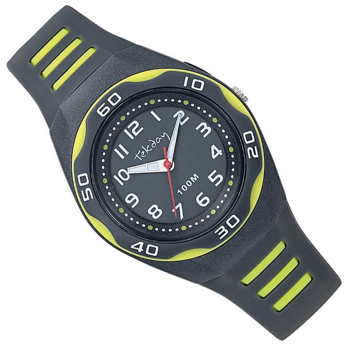 Tekday Horloge met Cijferverlichting 100m Grijs
