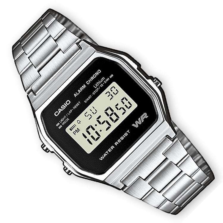 Casio Alarm Chrono Digitaal Horloge Zwart 34mm