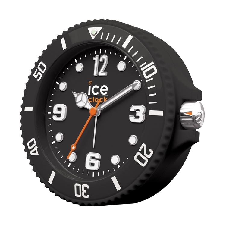 Ice-Watch Wekker Ice-Clock Zwart 14 cm - Geruisloos