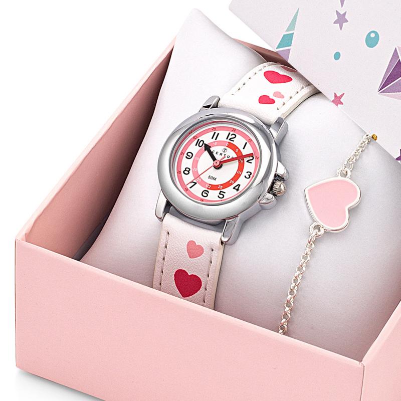 Certus Giftset Hearts - Horloge met Armband 26mm Wit
