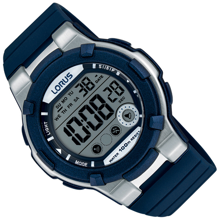 Lorus Digitaal Horloge Alarm Chrono Blauw