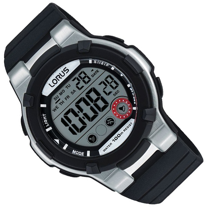 Lorus Digitaal Horloge Alarm Chrono Zwart