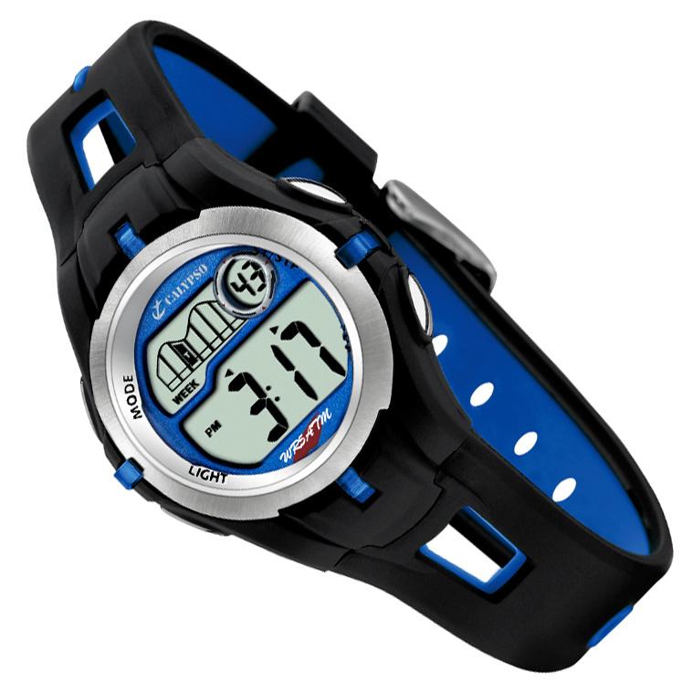 Calypso Digitaal Kinderhorloge Stopwatch Alarm 34mm Blauw