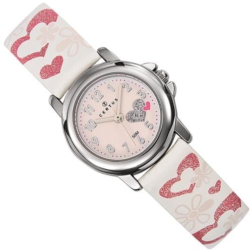 Certus Meisjes Horloge Hartjes 26mm Roze