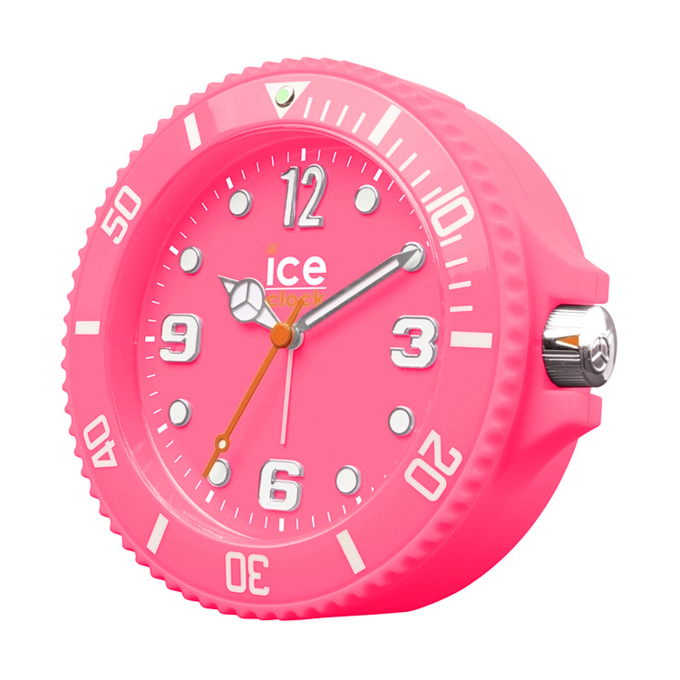 Ice-Watch Wekker Ice-Clock Fluor Roze 14 cm - Geruisloos