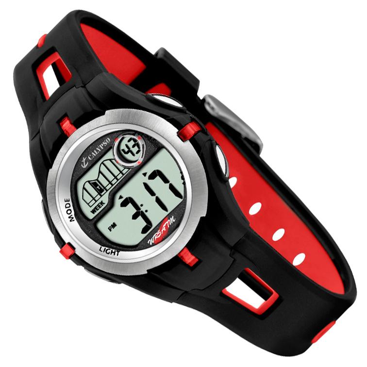 Calypso Digitaal Kinderhorloge Stopwatch Alarm 34mm Rood