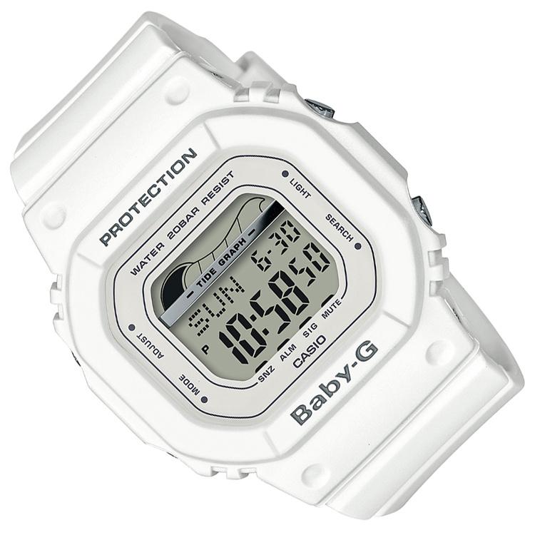 Casio Baby-G Getijden en Regatta Timer Wit - 3 Alarmen