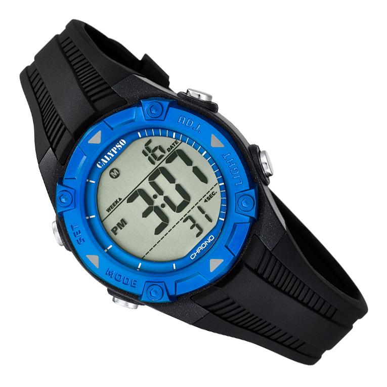 Calypso Digitaal Kinderhorloge 3 Alarmen Stopwatch 10ATM 35mm Zwart