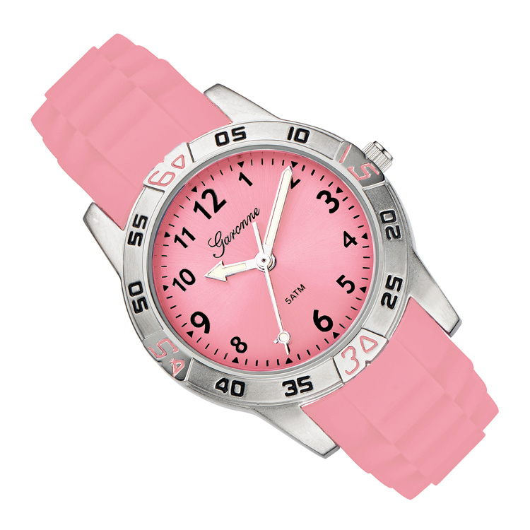 Garonne Rubberen Schakelband Rose Kinderhorloge 29 mm