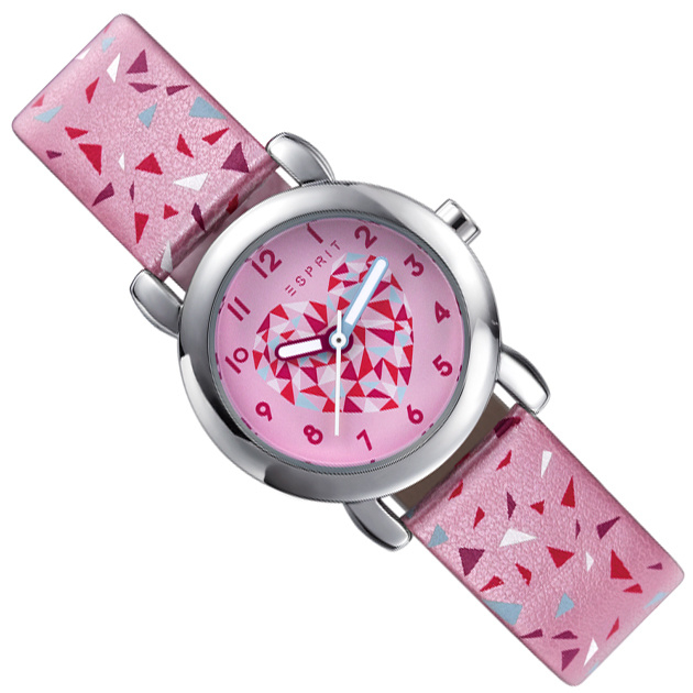 Esprit Meisjeshorloge Triangle Pink