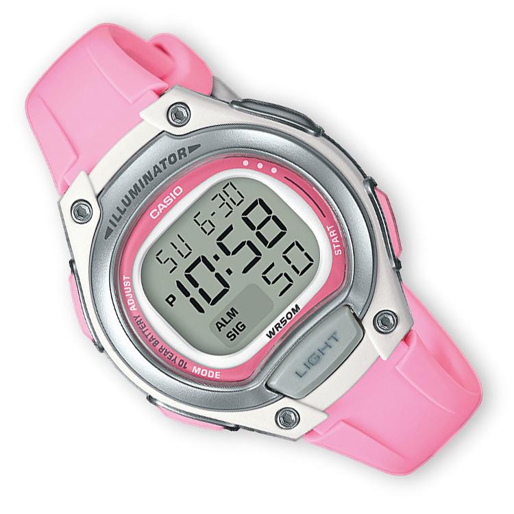 Casio Digitaal Kinderhorloge Alarm Roze/Zilver 34mm