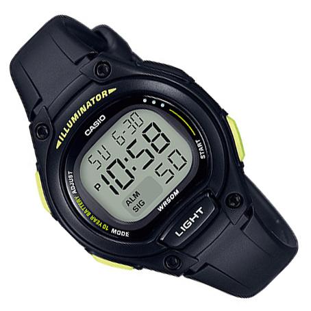 Casio Digitaal Kinderhorloge Alarm Zwart/Geel 34mm