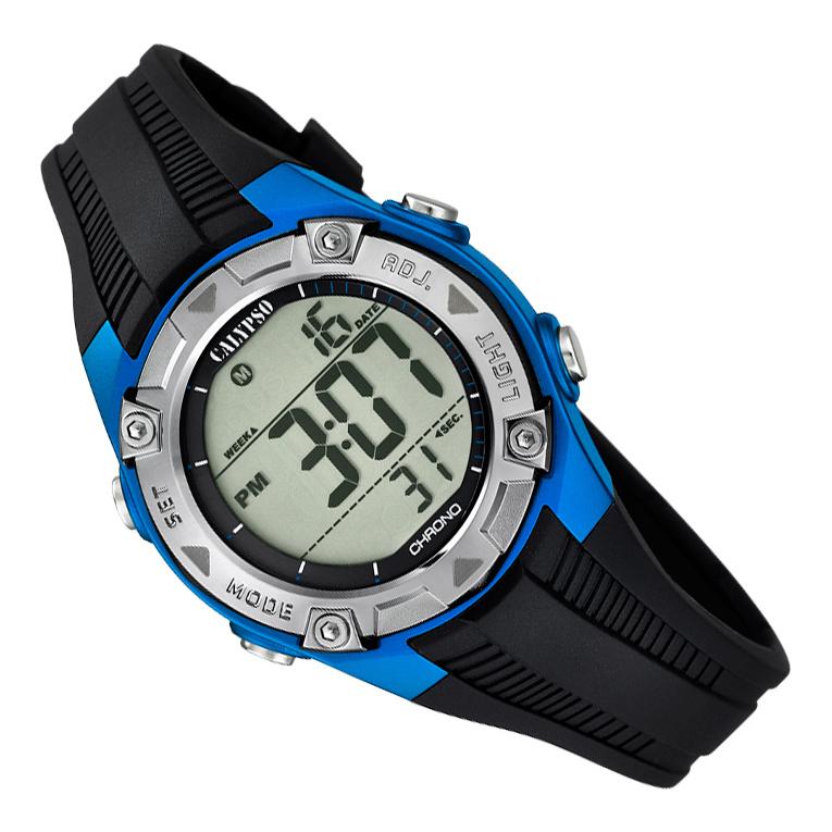 Calypso Digitaal Kinderhorloge 3 Alarmen Stopwatch 10ATM 35mm Blauw