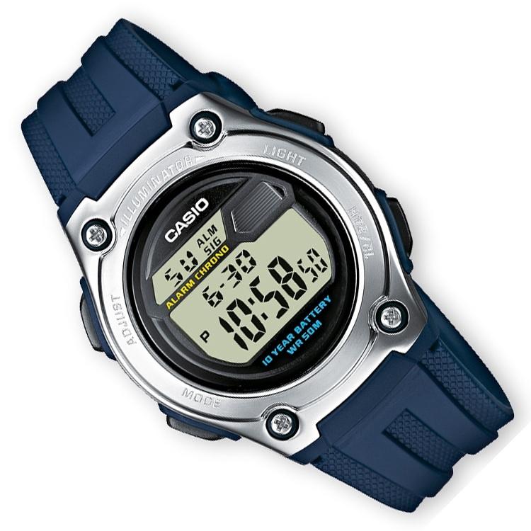 Casio Digitale Alarm Chronograaf GMT Blauw 37mm
