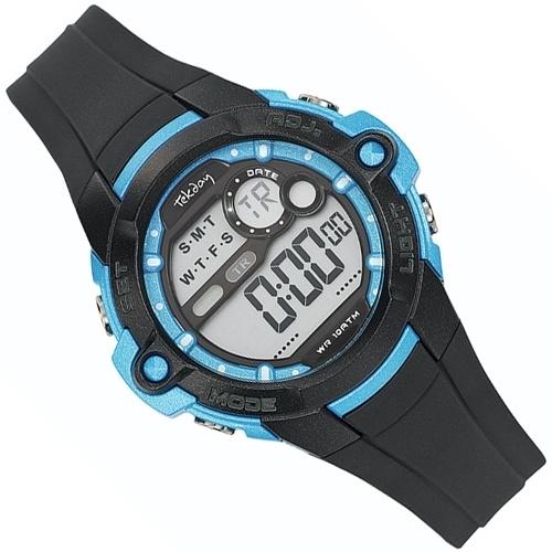 Tekday Kinder Sporthorloge Alarm-Chrono 10 ATM Blauw