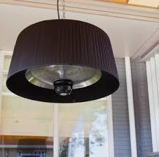 Hangende halogeen terrasheater ARTIX Black