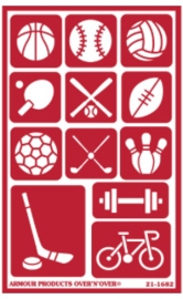 Glasets Sjabloon Sports 21-1682