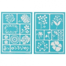 Glasets sjabloon Bloemen (2 sheets) 32269 Martha Stewart