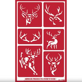 """Glasets sjabloon """"Deer"""" 21-1709"""