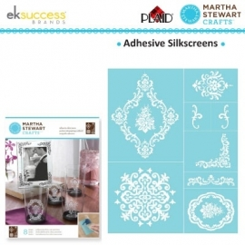 Glasets sjabloon damask accents 33243