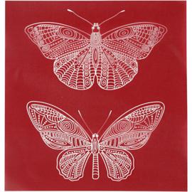 Glasets sjabloon Vlinder