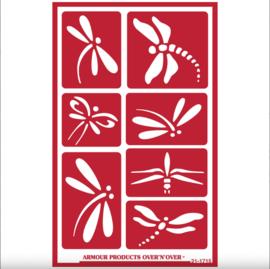 "Glasets Sjabloon ""Dragonfly"" 21-1715"