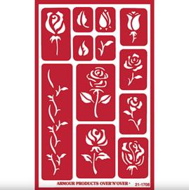 """Glasets Sjabloon """"Rose Buds"""" 21-1708"""