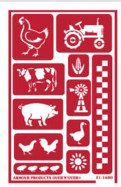 Glasets Sjabloon Farm Friends 21-1680