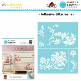 Glasets sjabloon exotic blossoms 3024-32931 Martha Stewart