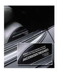 Kenteken & chassisnummer sjabloon