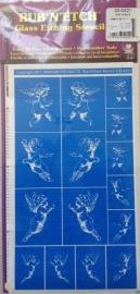 Glasets sjabloon engeltjes 20-0421