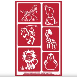 "Glasets Sjabloon ""Zoo animals"" 21-1714"
