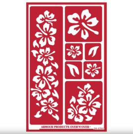 """Glasets Sjabloon """"Hibiscus Hawaiian Flowers"""" 21-1711"""