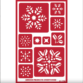 """Glasets Sjabloon """"Large Snowflakes"""" 21-1706"""