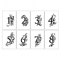 Cijfers met versiering A4