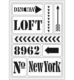 "Glasets sjabloon ""New York loft"""