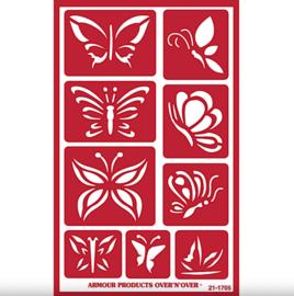 """Glasets sjabloon """"Butterflies"""" 21-1705"""