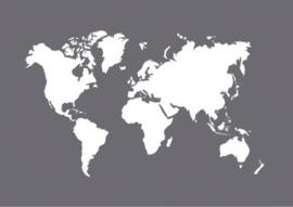 Glasets sjabloon wereldkaart