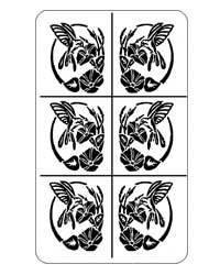 "Glasets sjabloon ""hummingbird"" 20-0323"