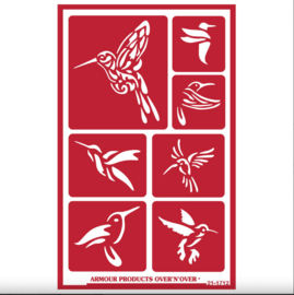 "Glasets Sjabloon ""Hummingbirds"" 21-1712"