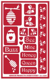 Glasets Sjabloon Bees 21-1687