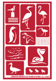 Glasets Sjabloon Water Birds 21-1683