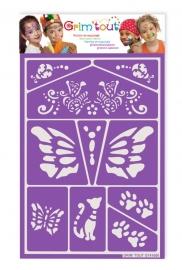 Glasets sjaloon vlinders  GT 41600