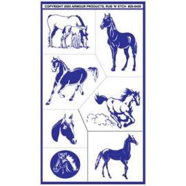 """Glasets sjabloon """"horses"""" 20-0459"""