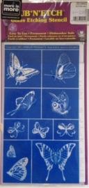 Glasets sjabloon vlinders 20-0443