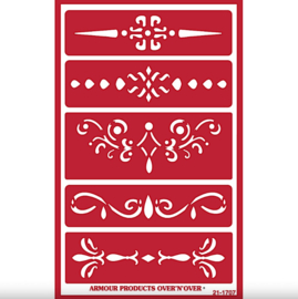 "Glasets Sjabloon ""Ornamental Borders"" 21-1707"