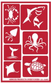 Glasets Sjabloon Sea Creatures 21-1685