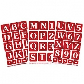 Glasets sjabloon 3x alphabet 21-1638