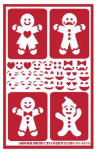 "Glasets sjabloon ""Gingerbread Folks"" 21-1670"